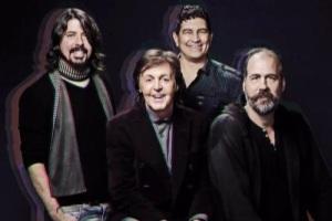 Paul McCartney, Dave Grohl, Krist Novoselic & Pat Smear